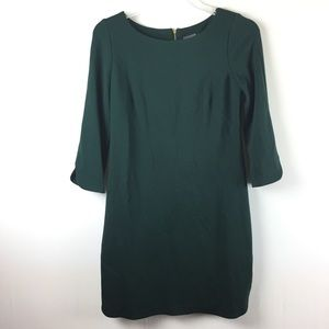 Vince Camuto Dress emerald green zip back size 6